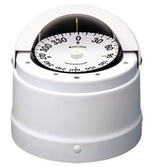 Ritchie Navigator- kompassi kansiasennuksella, valkoinen