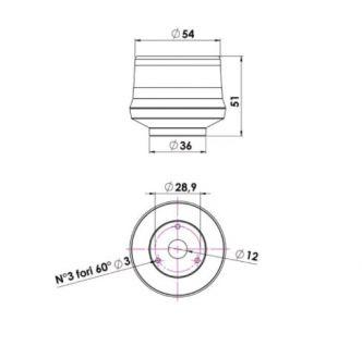 Ankkurivalo LED 360, musta