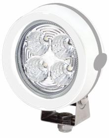 Hellamarine kansivalo Mega Beam LED, valkoinen