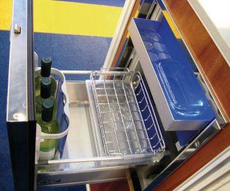 Isotherm Drawer DR49 Inox jääkaappi liukukoneistolla