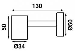 Båtsystem TUBE D1X LED-lukuvalo, alumiini