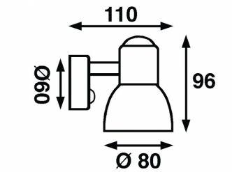 Båtsystem CLASSIC kohdevalo LED, messinki