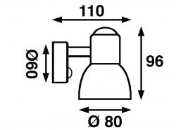 Båtsystem CLASSIC kohdevalo LED, kromi