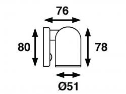 Båtsystem TUBE LED-kohdevalo, kromattu