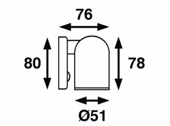 Båtsystem TUBE LED-kohdevalo, kromi