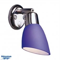 Båtsystem OPAL LED-kohdevalo kromi, sininen
