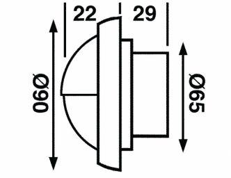 Båtsystem TARGA CAP upotettava LED-valaisin