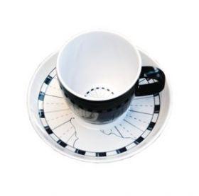 Columbus espresso kuppi ja lautanen 6 kpl