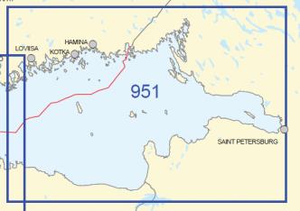 Yleismerikartta 951, Itäinen Suomenlahti 1:250 000, 2015