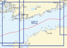 Yleismerikartta 952, Läntinen Suomenlahti 1:250 000, 2015