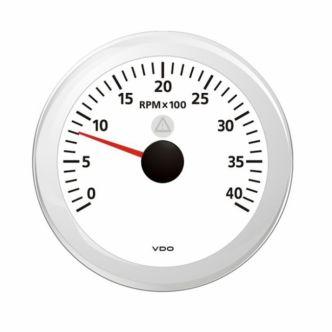 VDO Viewline Kierroslukumittari 0-4000 rpm 85 mm, valkoinen