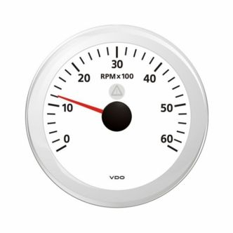 VDO Viewline Kierroslukumittari 0-6000 rpm 85 mm, valkoinen