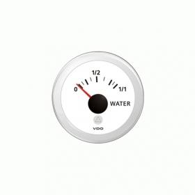 VDO Viewline vesisäiliömittari resistiiviselle anturille 52 mm, valkoinen