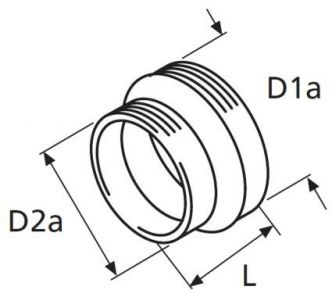 Webasto supistuskappale 90/80 mm letkuille