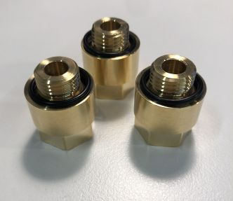 """Hy-ProDrive G1/4"""" uros (BSPP) - 1/4"""" NPT naaras adapteri 3 kpl"""