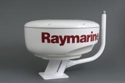 Tanko kiinnitettynä 15 cm alumiinijalkaan Raymarine tutkalla (jalka ja tutka ei kuulu toimitukseen)