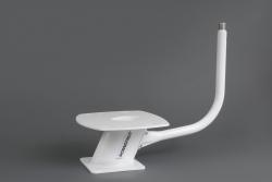 Tanko kiinnitettynä 15 cm alumiinijalkaan (jalka ei kuulu toimitukseen)