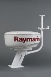 Tanko kiinnitettynä 25 cm alumiinijalkaan Raymarine tutkalla (jalka ja tutka ei kuulu toimitukseen)