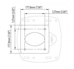 Scanstrut PowerTower® 25 cm alumiinijalka tutka-antennille