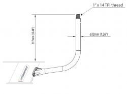 Scanstrut antennimasto PowerTower® alumiinijalalle