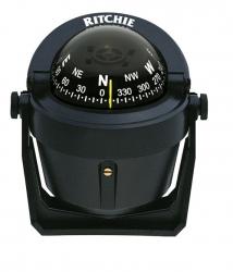 Ritchie Explorer- kompassi sanka-asennuksella, musta