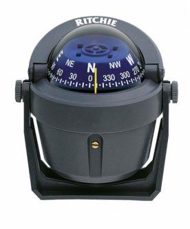 Ritchie Explorer- kompassi sanka-asennuksella, harmaa
