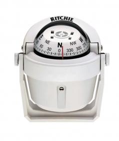 Ritchie Explorer- kompassi sanka-asennuksella, valkoinen