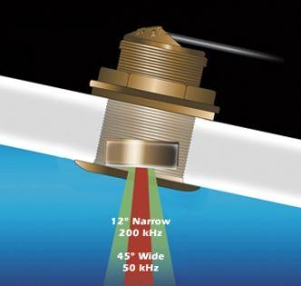 Airmar B60 kallistetun elementin läpivientianturi 50/200 kHz pronssi 12°