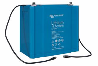 Esimerkkikuva 90Ah Lithium-akusta (Tarkasta oikeat mitat)
