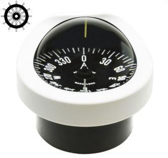 Autonautic C12/110-0012 uppoasennettava kompassi 85 mm ruusulla, valkoinen