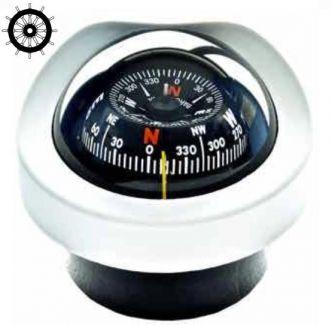 Autonautic C12/110-0014 uppoasennettava kompassi 85 mm ruusulla, valkoinen