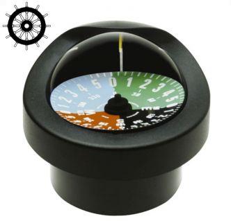 Autonautic C12/110-0016 uppoasennettava kompassi 85 mm taktiikkaruusulla, musta