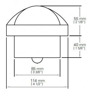 Autonautic C12/110-0010 uppoasennettava kompassi 85 mm ruusulla, musta