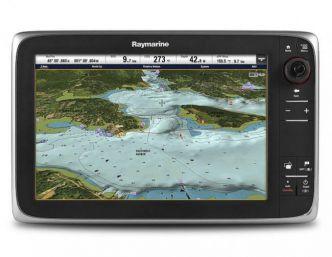 Raymarine c125 monitoiminäyttö sisäänrakennetulla GPS-antennilla