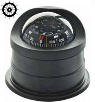 Autonautic C15-0049 pinta-asennettava kompassi 100 mm ruusulla, musta