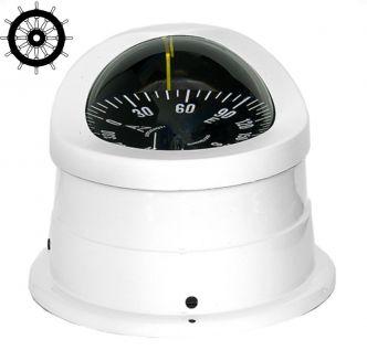 Autonautic C15-0050 pinta-asennettava kompassi 100 mm ruusulla, valkoinen