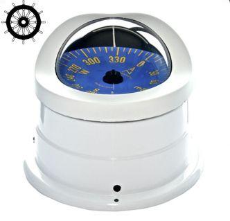 Autonautic C15-0051 pinta-asennettava kompassi 100 mm sinisellä ruusulla, valkoinen