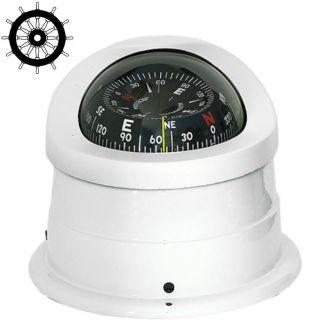 Autonautic C15-0052 pinta-asennettava kompassi 100 mm ruusulla, valkoinen