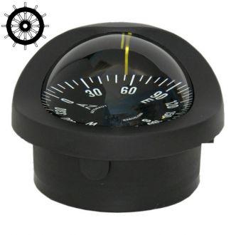 Autonautic C15/150-0063 uppoasennettava kompassi 100 mm ruusulla, musta