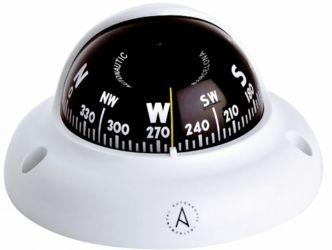 Autonautic C3002 pinta-asennettava kompassi 65 mm ruusulla, valkoinen