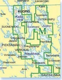 Vektorikartat Saimaan Vesistö, Savonlinna - Kuopio (Sarja M peitto) Iso Loistoon
