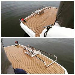 Asennus Bavaria S36 veneessä