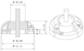 Index Marine DG22 vesitiivis kaapeliläpivienti 9-14 mm kaapelille, RST