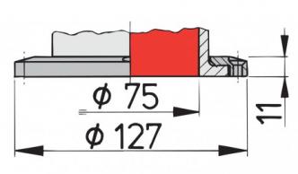 Vetus Silikoninen joutsenkaulaventtiili LIBEC S,  kiinteä kiinnitys
