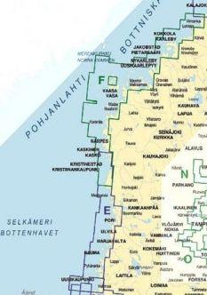 Vektorikarttakooste Selkämeri - Merenkurkku (E ja F peitto) Iso Loistoon