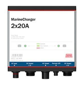Defa PowerSystems MarineCharger 2x20A maasähkölaturi