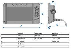 Raymarine Element 12 HV HV-100 peräpeilianturilla