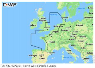 C-MAP MAX-N+ Luoteis-Euroopan rannikko (M-EN-Y227)
