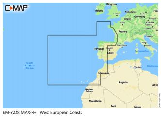 C-MAP MAX-N+ Länsi-Euroopan rannikko (M-EN-Y228)