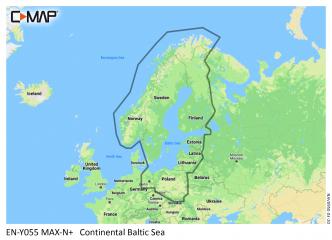 C-MAP MAX-N+ Itämeri + Suomen ja Ruotsin järvet Continental (M-EN-Y055)